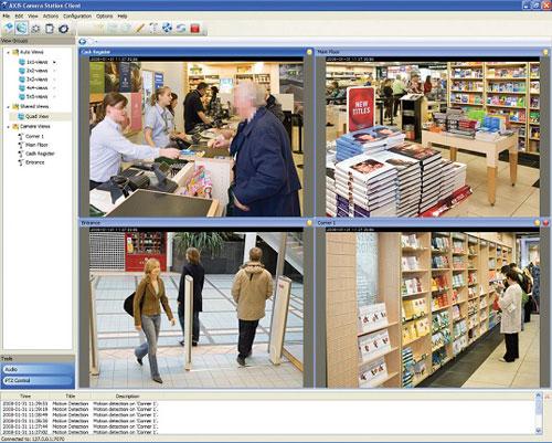 IP видеонаблюдение в книжном магазине на основе ip камеры AXIS