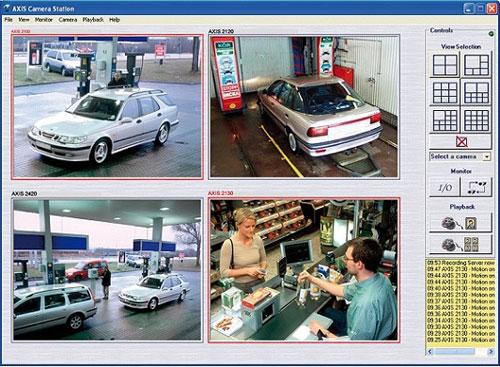Система ip видеонаблюдения контролирует АЗС при помощи ip камер AXIS