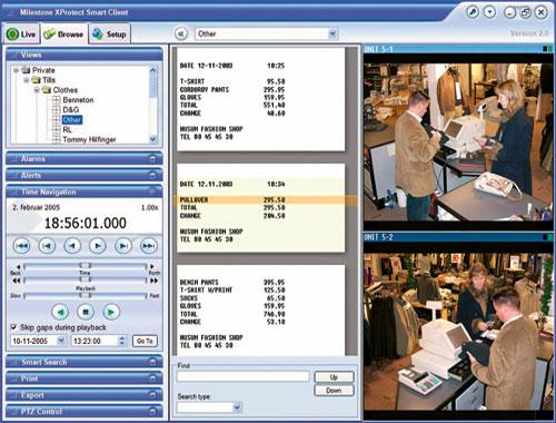 Пример интеграции системы POS с ip системой контроля
