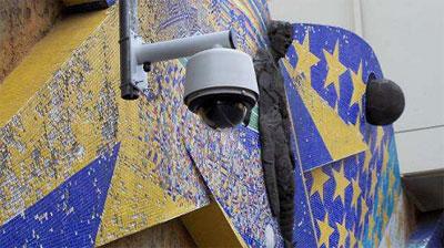 """Поворотная камера видеонаблюдения на стадионе """"Бока Хуниорс"""""""