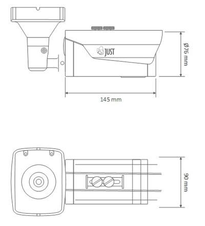 размер камеры видеонаблюдения в сборе