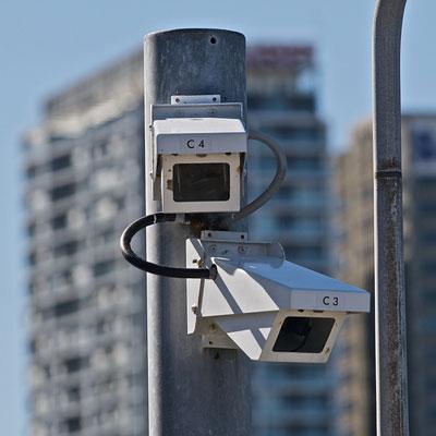 Уличные камеры наблюдения в кожухе