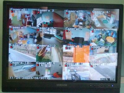 Просмотр на мониторе камер видеонаблюдения