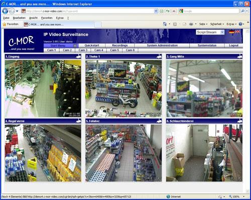 IP-видеонаблюдение в магазине