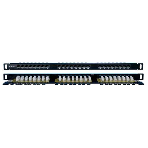 """Патч-панель высокой плотности 19"""", 24/48 портов RJ-45, категория 6"""